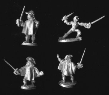 Ral Partha 25mm Fantasy 02-524 King's Guards (x 4)